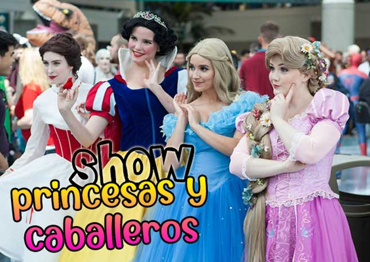 Show princesses et chevaliers magic natura animal, waterpark resort benidorm
